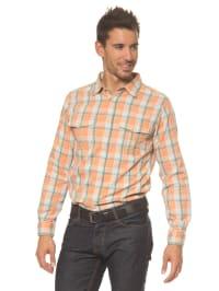 Eddie Bauer Hemd in Orange/ Hellgrün