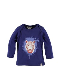"Kati:ga Longsleeve ""Tiger Head"" in blau"