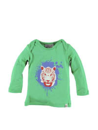 "Kati:ga Longsleeve ""Tiger Head"" in grün"