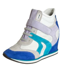 """Geox Keil-Sneakers """"Ambition"""" in Blau/ Flieder/ Weiß"""