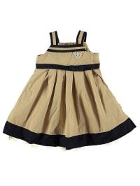 Steiff Kleid in Beige/ Nachtblau