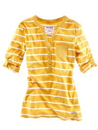 Roadsign Shirt in Gelb/ Weiß