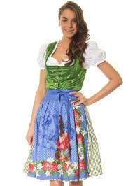 """Turi Landhaus Mini-Dirndl """"Hilde"""" in grün/ blau"""
