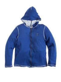 Diesel Kid Sweatjacke in blau/ weiß