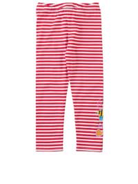 Janosch Leggings in rot/ weiß