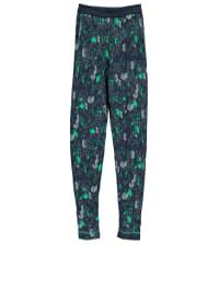 Sanetta Pyjamahose in Dunkelblau/ Grün