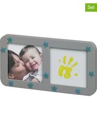 Baby Art 13tlg. Abdruck-Set mit Bilderrahmen in Grau
