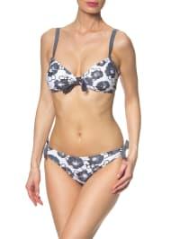 Elemar Triangel-Bikini in Weiß/ Grau