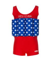 """Beverly Kids Schwimmanzug """"Yes I can"""" mit Schwimmhilfe in Rot/ Blau"""
