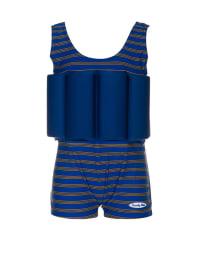 """Beverly Kids Schwimmanzug """"Cote d'Azur"""" mit Schwimmhilfe in Blau"""