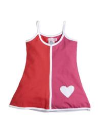 Lofff Kleid in pink/ rot/ weiß