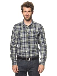 Luis Trenker Hemd in grau/ dunkelblau