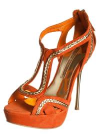 Buffalo High-Heels in orange