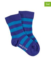 Green Cotton 3er-Set: Socken in Blau/ Hellblau