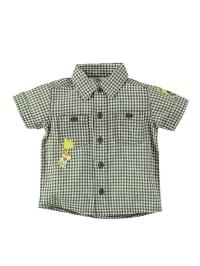 Bondi Hemd in Oliv/ Weiß