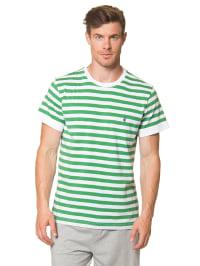 Marc O'Polo Shirt in Grün/ Weiß