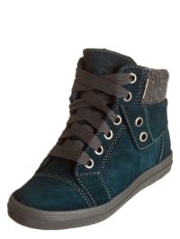 Richter Shoes Leder-Sneakers in Petrol/ Grau