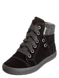 Richter Shoes Leder-Sneakers in Schwarz/ Grau