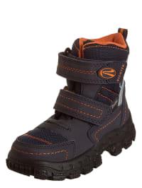 Richter Shoes Boots in Dunkelblau/ Anthrazit/ Orange