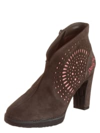 "Desigual Ankle-Boots ""Oli"" in Braun/ Rosa"