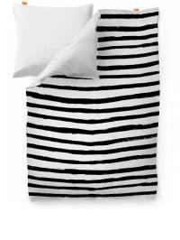 "Blanc Bettbezug ""Stripes"" in Weiß/ Schwarz"