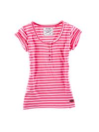 Roadsign Shirt in Pink/ Weiß
