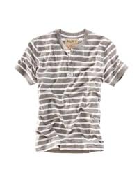 Roadsign Shirt in Grau/ Weiß