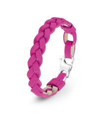 S. Oliver Leder-Armband in Pink