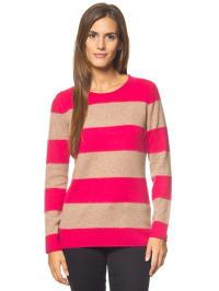 Bluhmod Kaschmir-Pullover in Pink/ Beige