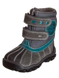 Primigi Leder-Boots in taupe/ grau/ petrol