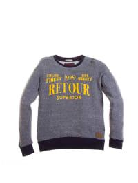 """Retour Sweatshirt """"Edo"""" in Grau/ Dunkelblau"""