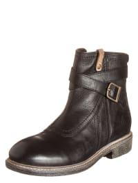 Wrangler Leder-Boots in schwarz