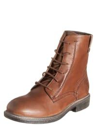 Wrangler Leder-Boots in hellbraun