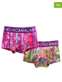 Muchachomalo 2er-Set: Pantys in Lila/ Bunt