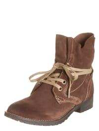 Marco Tozzi Leder-Boots in Braun