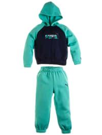 Puma Trainingsanzug in grün/ blau