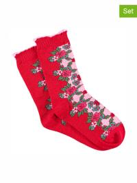 Bonnie Doon 2er-Set: Socken in Rot/ Bunt