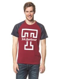 Jack & Jones Shirt in Rot/ Dunkelblau