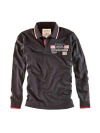 Roadsign Langarm-Poloshirt in Schwarz