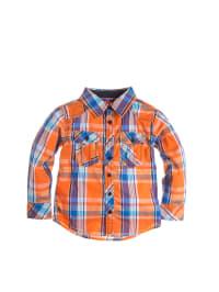 Paglie Hemd in Orange/ Blau