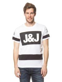 Jack & Jones Shirt in Weiß/ Schwarz