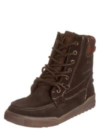 S. Oliver Leder-Boots in Braun