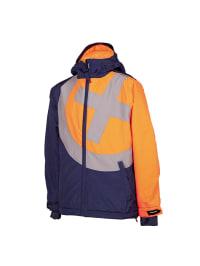 "Chiemsee Ski-/ Snowboardjacke ""Haio"" in Dunkelblau/ Orange"