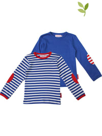 Toby Tiger 2er-Set: Longsleeves in Blau/ Weiß/ Rot