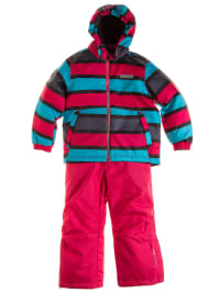 "Color Kids 2tlg. Skioutfit ""Guide"" in Pink/ Türkis"