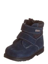 Richter Shoes Leder-Boots in Dunkelblau