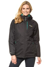 "Regatta 3-in-1 Funktionsjacke ""Vito"" in Schwarz/ Türkis"