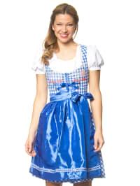 """Stockerpoint Midi-Dirndl """"Summer"""" in Blau/ Weiß"""