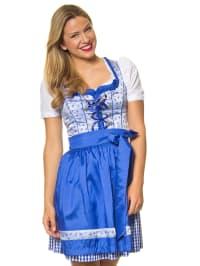 "LEKRA Mini-Dirndl ""Irene"" in Blau/ Silber"