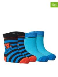 """Legowear 4er-Set: Socken """"Aske 702"""" in Blau/ Hellblau"""